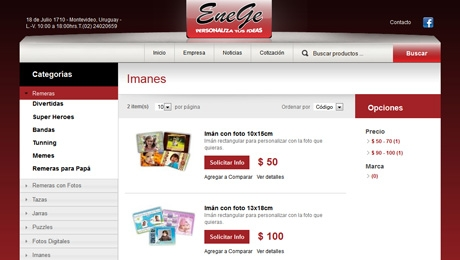 Desarrollo de Catálogo Online