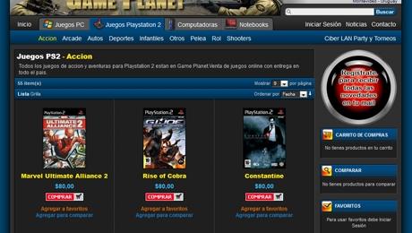 Tienda online de videojuegos