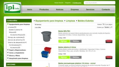 Tienda online de productos de limpieza