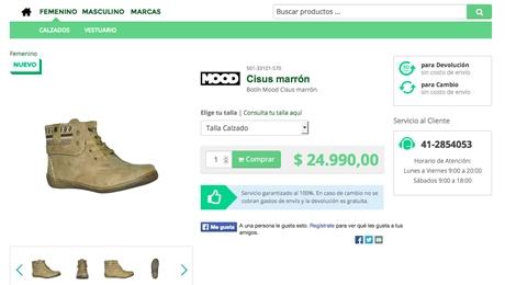 Tienda virtual de zapatos y ropa en chile