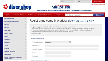 Tienda Virtual Mayorista