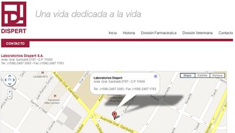 Catálogo de productos y portal institucional